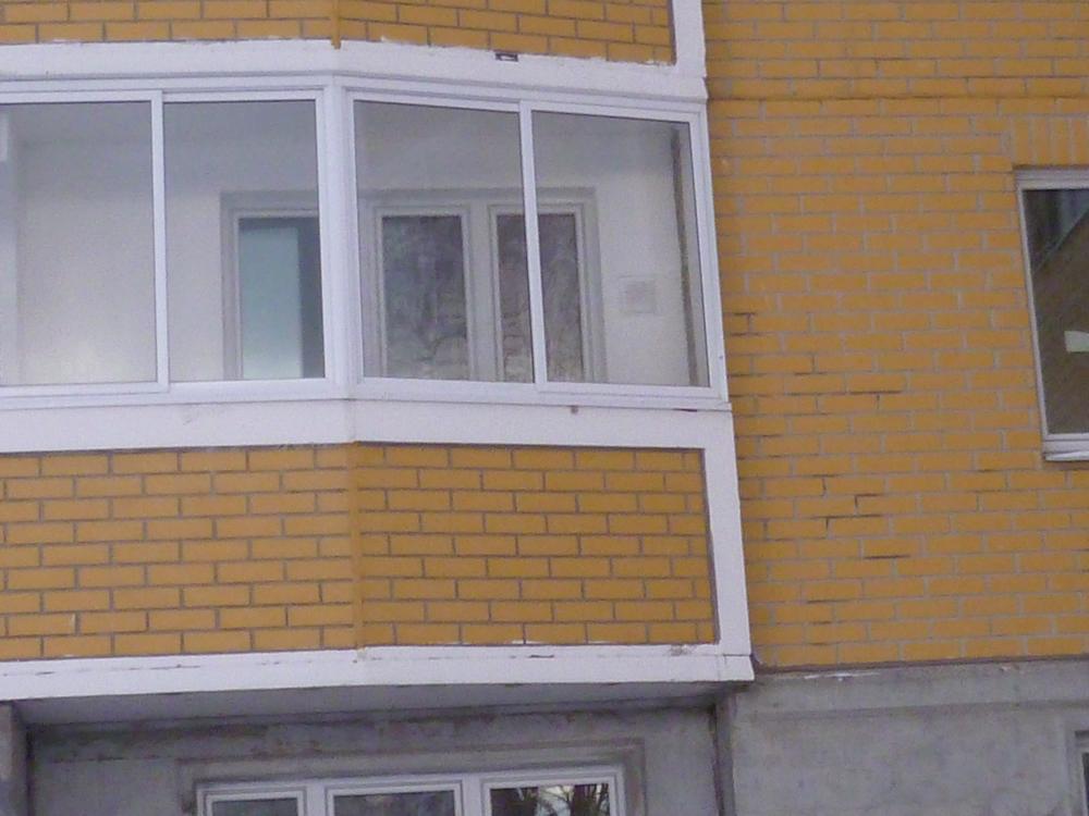 Отделка парапета балкона п 44..