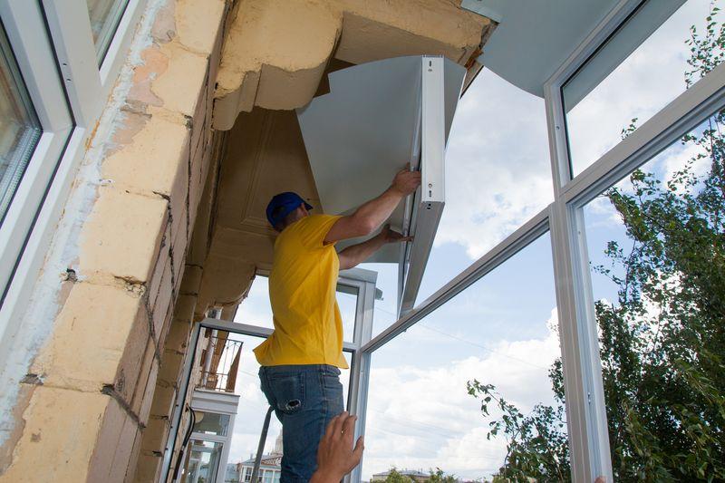 Технология установки балкона.